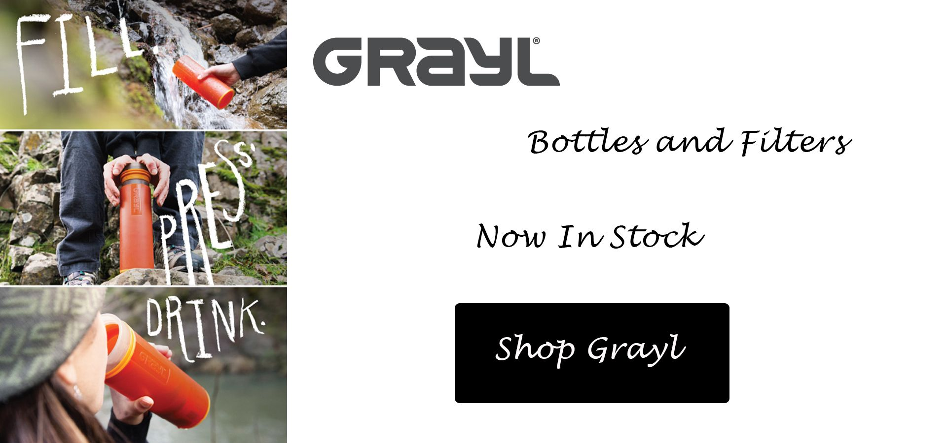 Grayl Filtration Bottles |