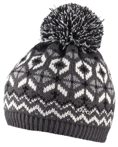 Capo Diamond Bobble Hat - Granite