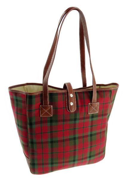 Large Tartan Shopper Bag